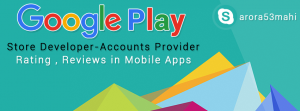 Google play store developer account seller