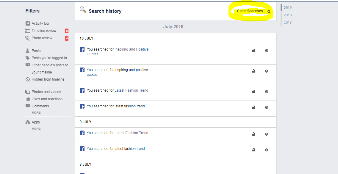How to Clear Your Facebook Search History - Top To Find
